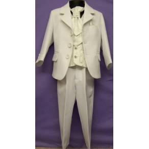 HP2 H1 4 Piece Black Suit with Cream Waistcoat & Cravat BUY OR HIRE from just £10.99
