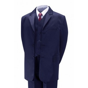 Boys 5 Piece Navy Formal Suit - Ages 6 months to 15 years.