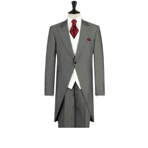 Prince William2 Mens Silver Grey Morning Suit with Grey Trousers BUY OR HIRE from just £15.99